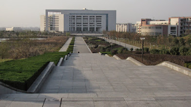 Photo: visit to new campus of Wuhan Textile University