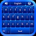 Einfache Blaue Tastatur icon