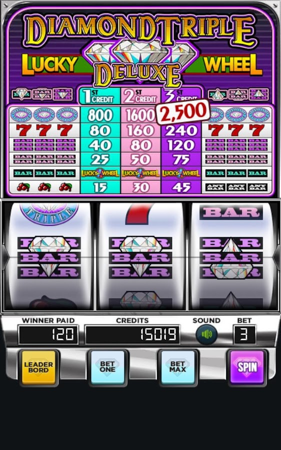 Triple diamonds slot machine