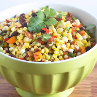 Mexican Corn Salad with Sriracha Almonds.