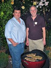 Photo: Jack and Richard on the grilling team