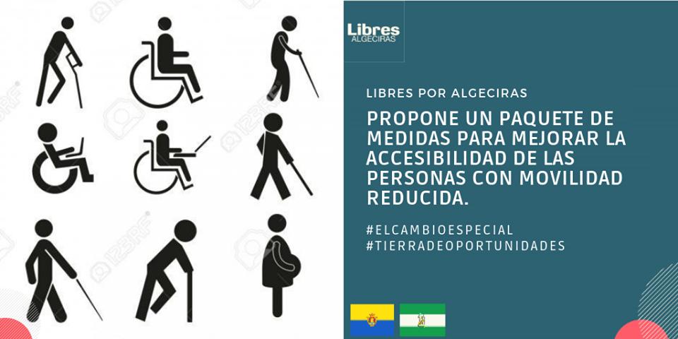 Libres Por Algeciras propone un paquete de medidas para mejorar la accesibilidad de las personas con movilidad reducida