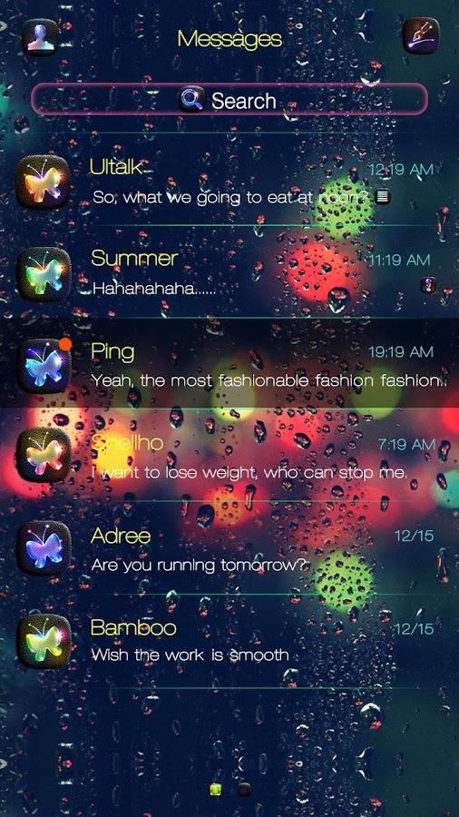 Free Go Sms Luminous Theme Screenshot