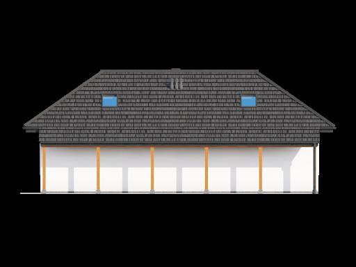 Garaż G2 (08) - Elewacja tylna