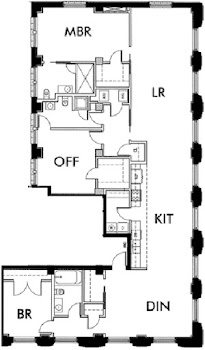 Go to Lincoln American Tower - C1 Floorplan page.