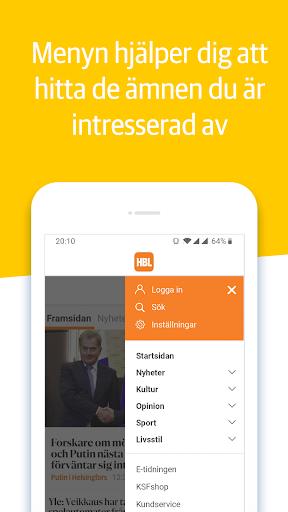 Capturas de pantalla de HBL Nyheter 5