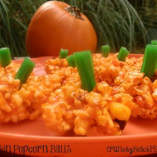 Happy Halloween! Pumpkin Popcorn Balls