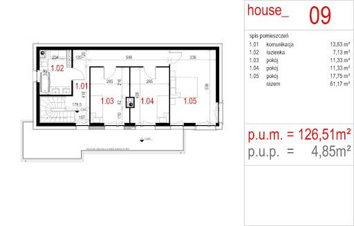 House 09 - Rzut piętra