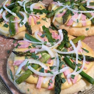 Gluten Free Ham & Asparagus Pizza