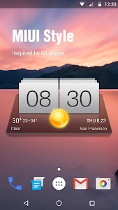 Digital Clock & Weather Widget screenshot 0