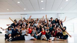 Alumnos asistentes a los talleres del Almería Swing Fest, en una edición anterior (Rhetangles).