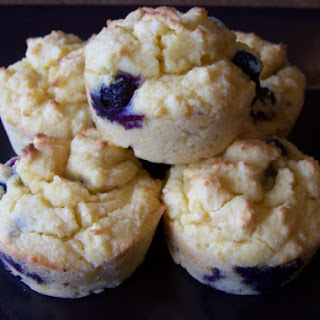 Low Carb Blueberry Muffins (Gluten-free).