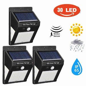 Set 5 x Lampa solara de perete cu senzor miscare 30 LED