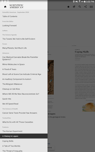 Screenshot 4 for Scientific American's Android app'