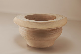"Photo: Bill Long 7 1/2"" x 4 1/2"" multi-axis bowl [crepe myrtle]"