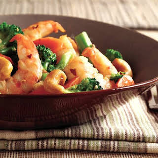 Gingered Shrimp with Cashews.