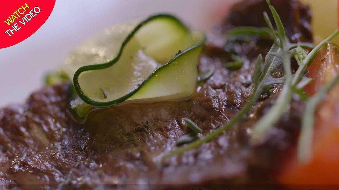 First lab-grown STEAK looks just like real beef - and ...