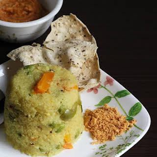 Brown Rice Upma Recipe, How To Make Brown Rice Upma.