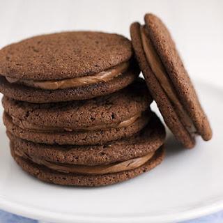 Chocolate Malt Sandwich Cookies.