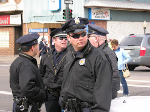 Photo: Police officers; photo by Bob Glass; posted with permission by Ari Armstrong.