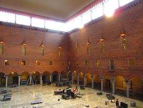 Photo: Mėlynoji salė. Pasiruošimas Nobelio premijos banketui.