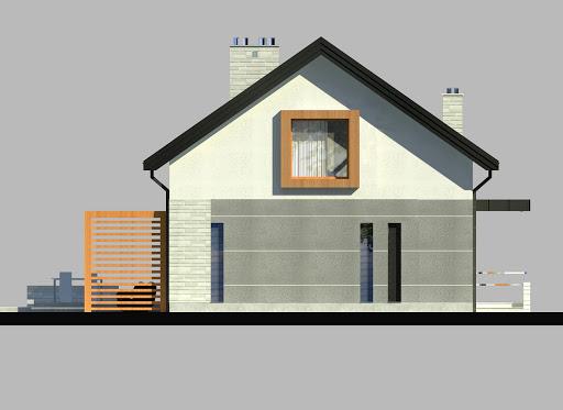 LIM House 04 - Elewacja lewa