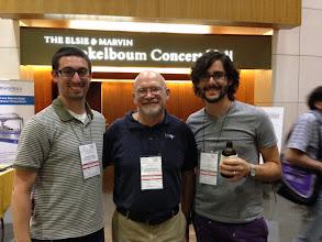 Photo: Matt and Evan with Scott Rychnovsky at NOS