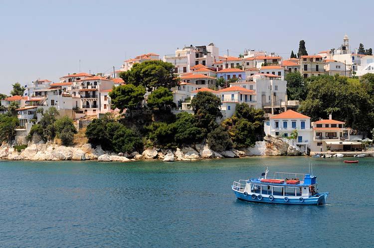 The Greek island of Skiathos, site of the 2008 movie