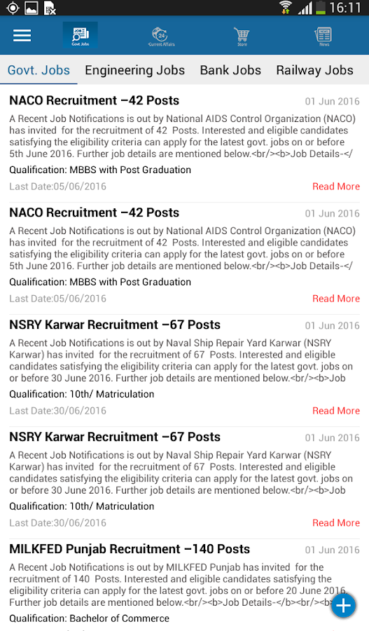 Free Jobs News Government jobs- screenshot