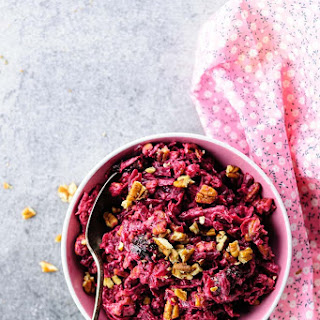 Russian Beet Salad with Prunes and Pecans