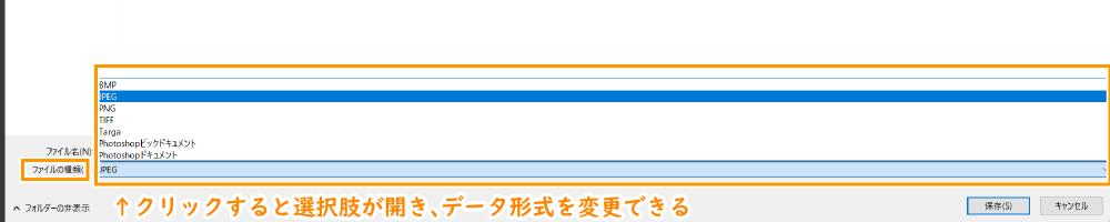 保存:データ形式