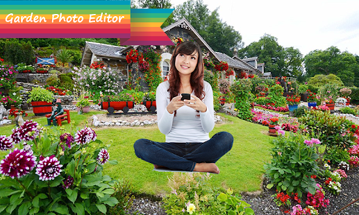 Nature Garden Photo Frames Editor - náhled