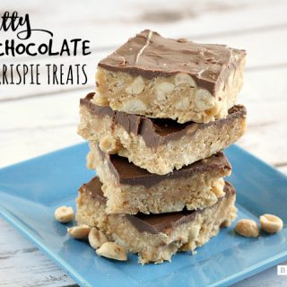 NUTTY CHOCOLATE RICE KRISPIE TREATS