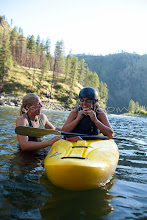 Photo: Kayak instructor and student. Salmon River, Idaho.