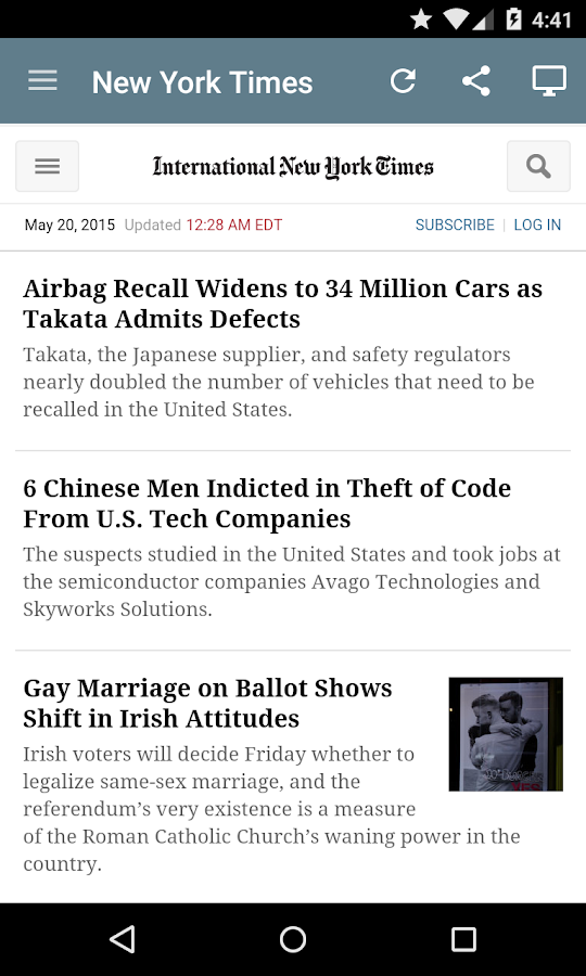 US Newspapers- screenshot