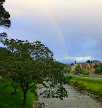 Photo: Rainbow over Tomebamba River, Cuenca