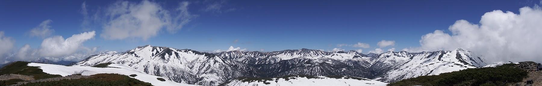 北ノ俣岳からパノラマ