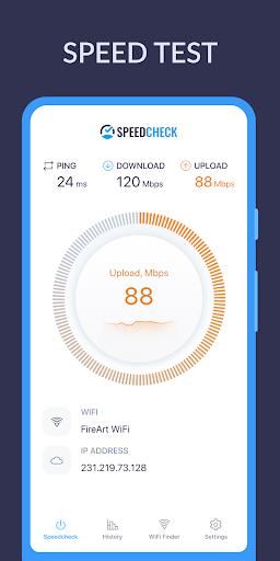 SPEEDCHECK Internet Speed Test  screenshots 1