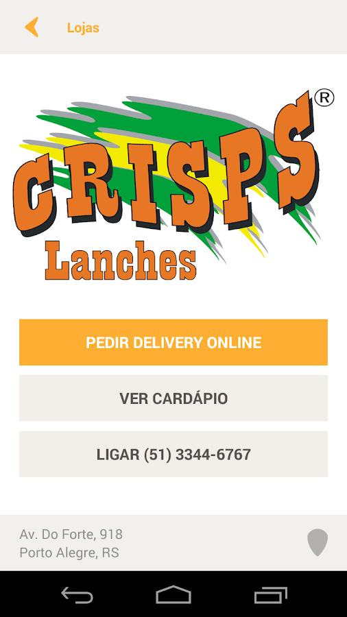 Crisps Lanches- screenshot
