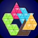 Triangles Paper Puzzle : Color Puzzles Fixes icon