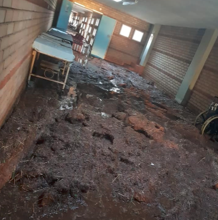 Inside Jane Furse Hospital which was hit by a storm in Limpopo.