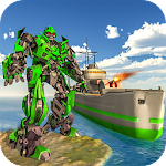 WW2 Naval Battleship Robot Transform Sea Battle Icon