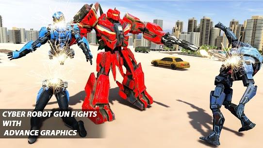 Real Robot Car Transform War : Mega Robot Games 2
