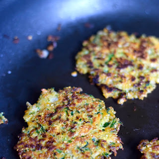 Vegetable Fritters Salad