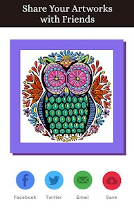 Adult Coloring Pages Animals Screenshot Thumbnail
