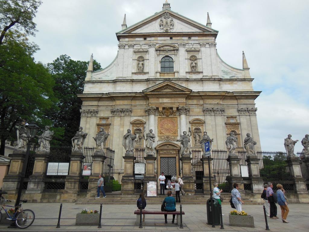 Iglesia de San Pedro y San Pablo en Cracovia.