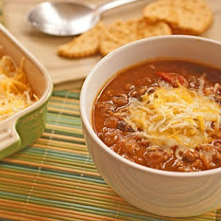Healthy Slow Cooker Pumpkin and Bean Chili.