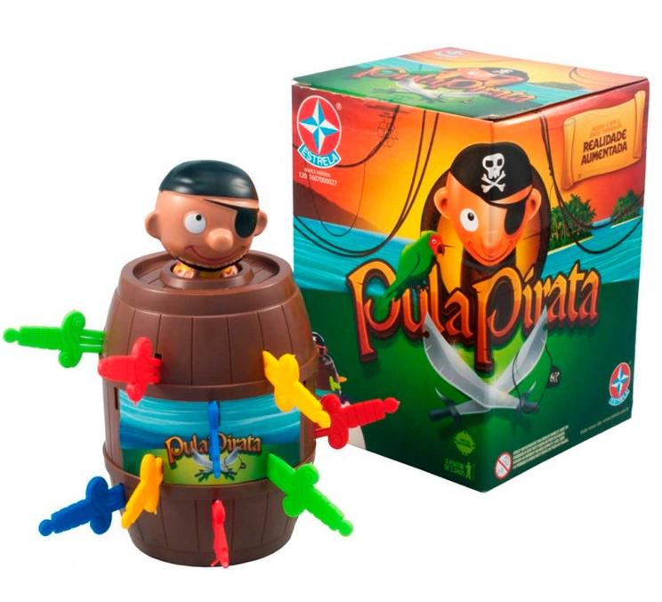 Peças do jogo pula pirata