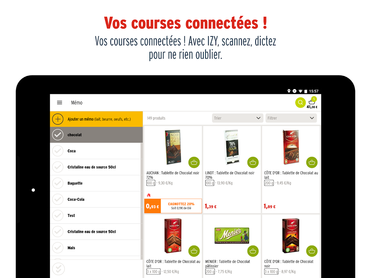 chronodrive - courses en ligne- screenshot