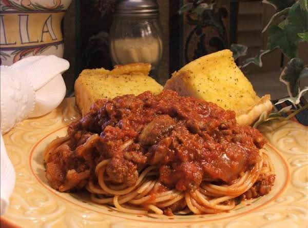 My Meat-lover's Taste Of Italy Spaghetti Sauce Recipe